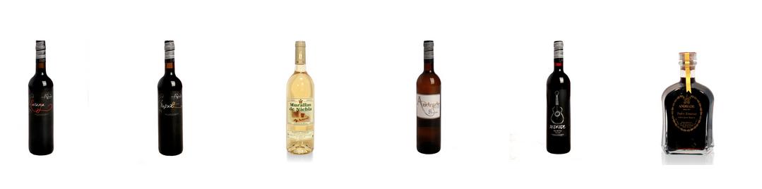 Vinos Bodegas Andrade para regalar. Botellas de vino tinto, blanco y generoso en Huelva.