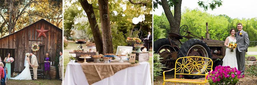 Decoracion de bodas rusticas o campestres en cortijos o haciendas andaluzas