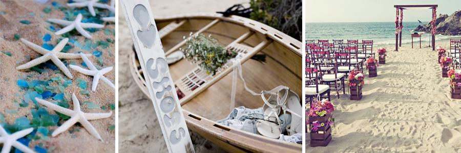 Decoracion para organizar una boda en la playa