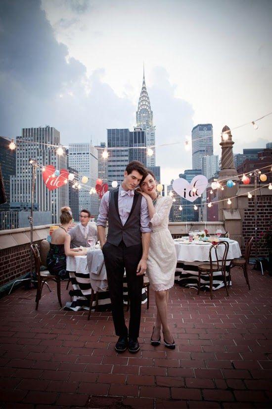 Celebrar bodas en azoteas de edificios en las grandes ciudades