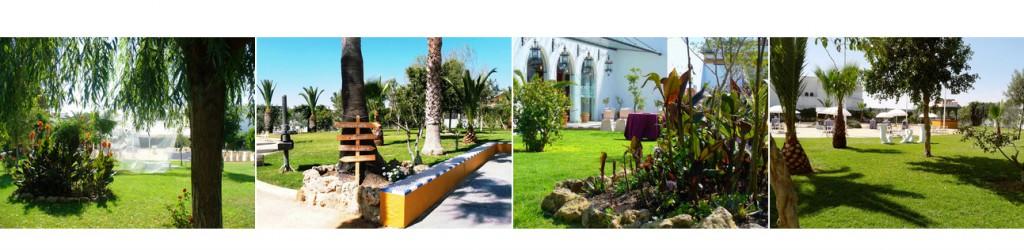 Jardines en Bodegas Andrade, el lugar perfecto para celebrar bodas civiles al aire libre