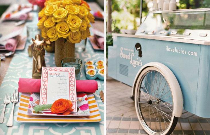 Carrito de helados vintage para bodas. Carros de helados antiguos con un diseño delicado para decorar bodas y servir un delicioso helado a tus invitados.