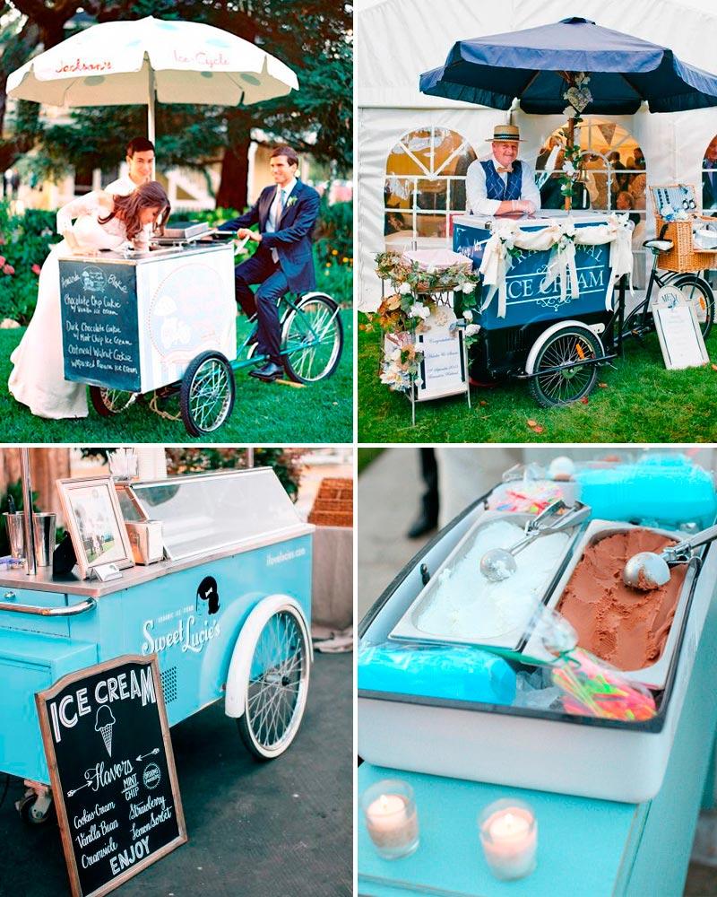 Servir helados en bodas es la ultima tendencia. Una idea que seguro que gustará a niños y mayores.